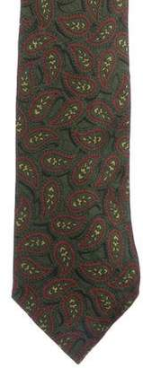 Fendi Paisley Print Silk Tie