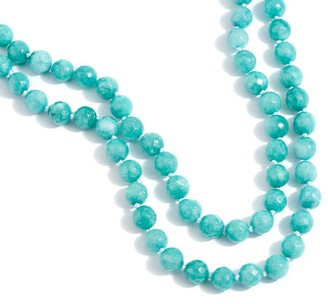 "Dee Berkley 50"" Blue Quartzite Bead Necklace"