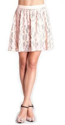 Michael Stars Sequin Silk Skirt