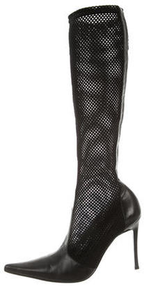 Casadei Perforated Knee-High Boots $155 thestylecure.com