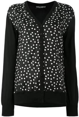 Dolce & Gabbana polka dot cardigan