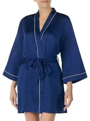 Kate Spade Self-Tie Cat Short Robe