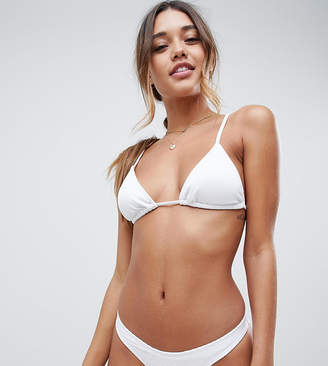 South Beach Mix & Match Exclusive hipster bikini bottom in white