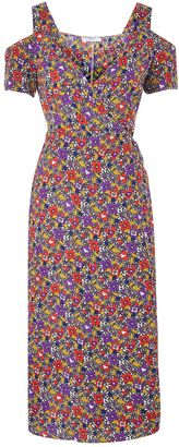 **Floral Printed Midi Dress by Glamorous Tall