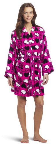 Hello Kitty Juniors Tokyo Print Plush Robe
