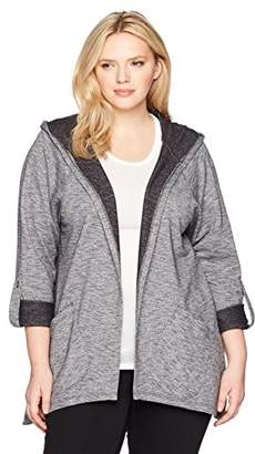 Fruit of the Loom Fit for Me by Women's Plus Size Active Hoodie Cardigan