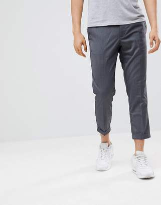 Pull&Bear Tailored Pants In Gray