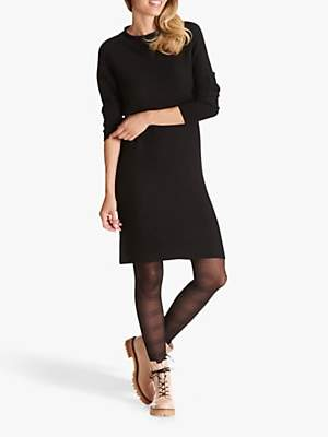 Betty Barclay Ribbed Knit Dress, Black
