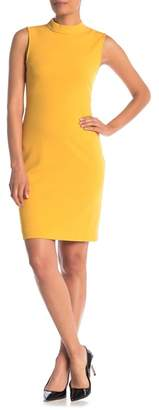 Sharagano Mock Neck Scuba Dress