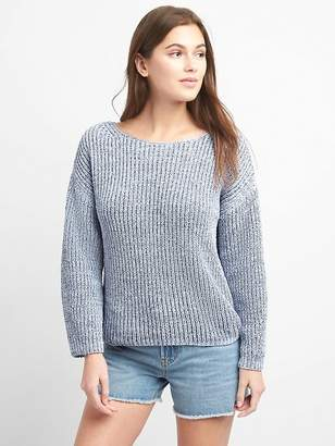 Gap Chenille Wide-Sleeve Boatneck Pullover Sweater