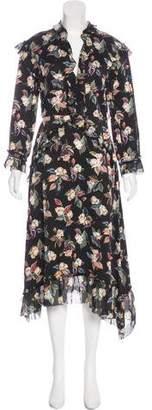 Vilshenko Floral Print Midi Dress