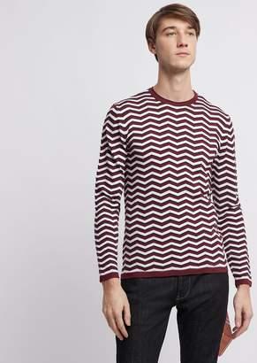 Emporio Armani Lightweight Striped Fabric Sweater
