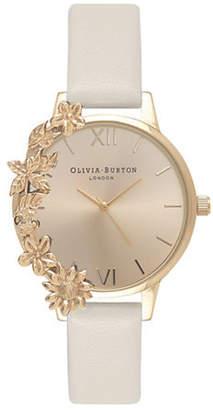 Olivia Burton Case Cuffs Leather Strap Watch