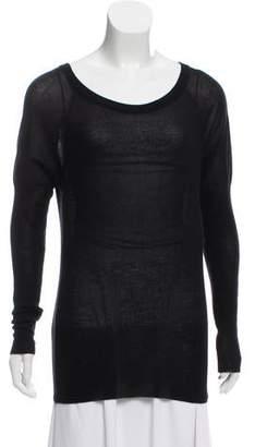 Tomas Maier Semi-Sheer Cashmere Sweater