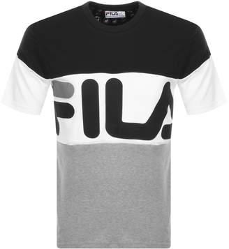 Fila Vintage Vialli Logo Crew Neck T Shirt Black