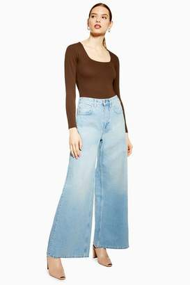 Topshop Womens **Wide Leg Jeans By Boutique