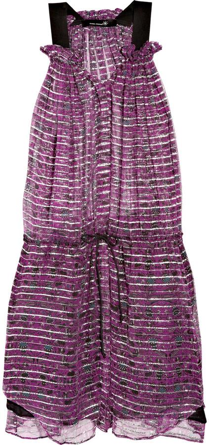 Isabel Marant Berheens Lurex and silk-crepe dress