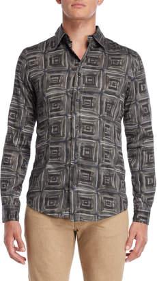 Armani Jeans Slim Fit Printed Shirt