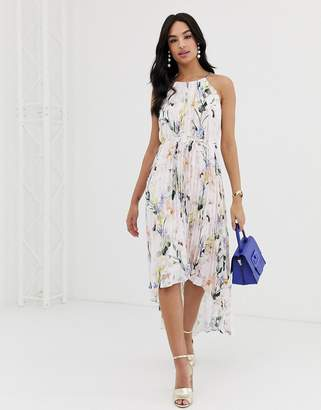 Ted Baker Valetia elegance pleated maxi dress