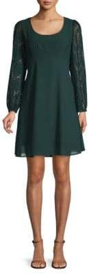 Nanette Lepore Long-Sleeve A-Line Dress
