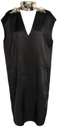 By Malene Birger Cutout Embellished Satin Mini Dress