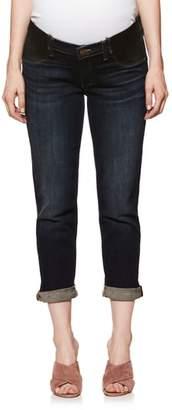 Paige Brigitte Crop Boyfriend Maternity Jeans