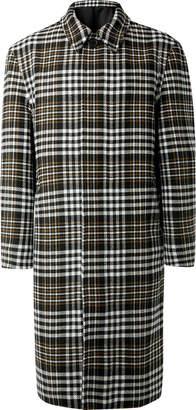 Ami Oversized Checked Wool-Blend Coat - Men - Gray