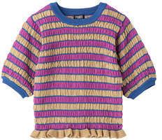 PAMEO POSE (パメオ ポーズ) - Shirring Boder Lame Knit Top