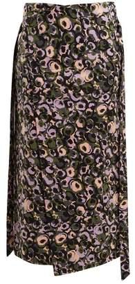 Marni Marken Print Midi Skirt - Womens - Green Print