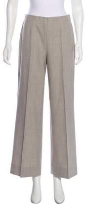 Ralph Lauren Black Label Wool High-Rise Wide-Leg Pants