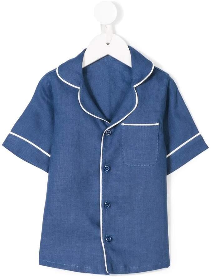 Buy Eshvi Kids contrast trim shirt!