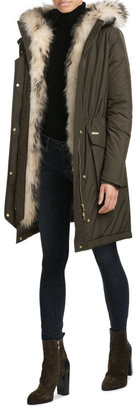 Woolrich Military Down Parka with Fur-Trimmed Hood $1,209 thestylecure.com