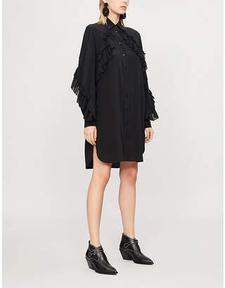 Givenchy Ruffle-trim silk-crepe dress