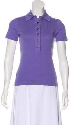 Tory Burch Short Sleeve Collared Top