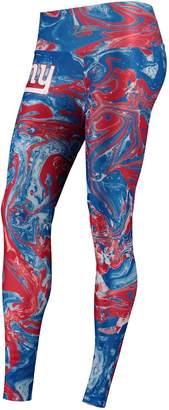 Unbranded Women's Zubaz Royal New York Giants Swirl Leggings