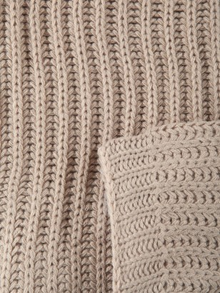 Catherine Lansfield Soft Touch Knitted Throw -Natural