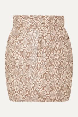Michael Lo Sordo Snake-effect Faux Leather Mini Skirt - Snake print