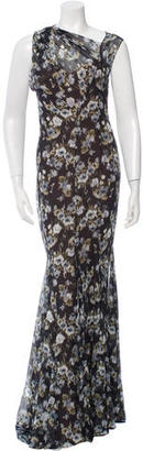 Vera Wang Silk Floral Gown $400 thestylecure.com