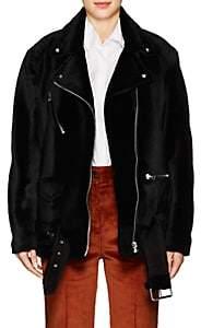 Acne Studios Women's Myrtle Shearling Moto Jacket - Black