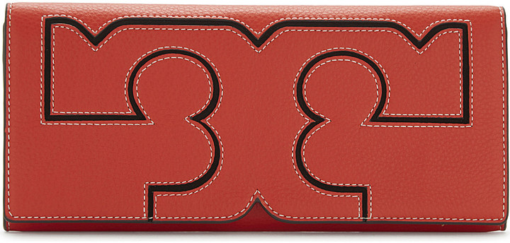 Tory Burch TORY BURCH Serif leather clutch purse