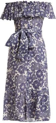 Lisa Marie Fernandez Mira floral-print cotton dress