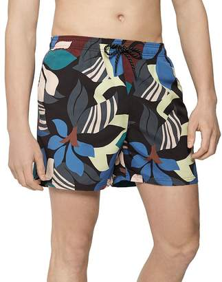 Reiss Aida Art Deco Floral Swim Shorts
