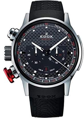 Edox Men's 'WRC' Swiss Quartz Stainless Steel and Rubber Sport Watch