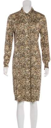 Diane von Furstenberg Silk Printed Shirtdress