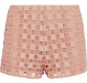 RED Valentino Silk Organza-Paneled Guipure Lace Shorts