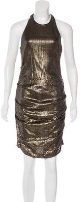 Nicole Miller Sequined Knee-Length Dress w/ Tags