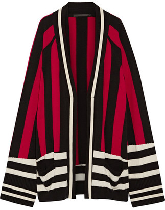 Haider Ackermann - Striped Wool And Cashmere-blend Cardigan - Black $1,130 thestylecure.com