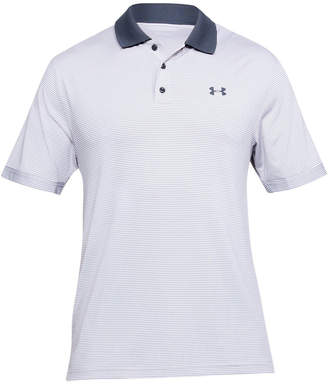 Under Armour Mens Performance Novelty Golf Polo White / Grey XXL