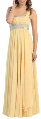Asstd National Brand Semi Formal One Shoulder Bridesmaids Dress