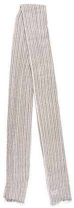 Brunello Cucinelli Striped Cashmere-Blend Scarf w/ Tags